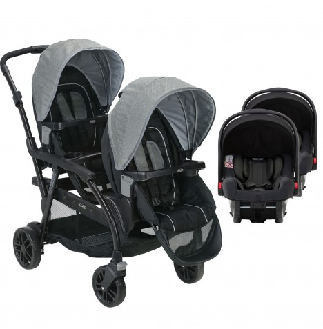Graco Modes Duo Tandem Double Pram Twin Travel System (Snugride iSize)